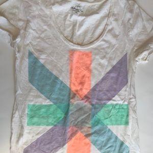 Jcrew collectors tee sz XS colorful pastel stripe